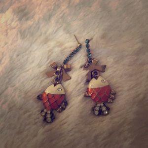 Betsey Johnson fish earrings